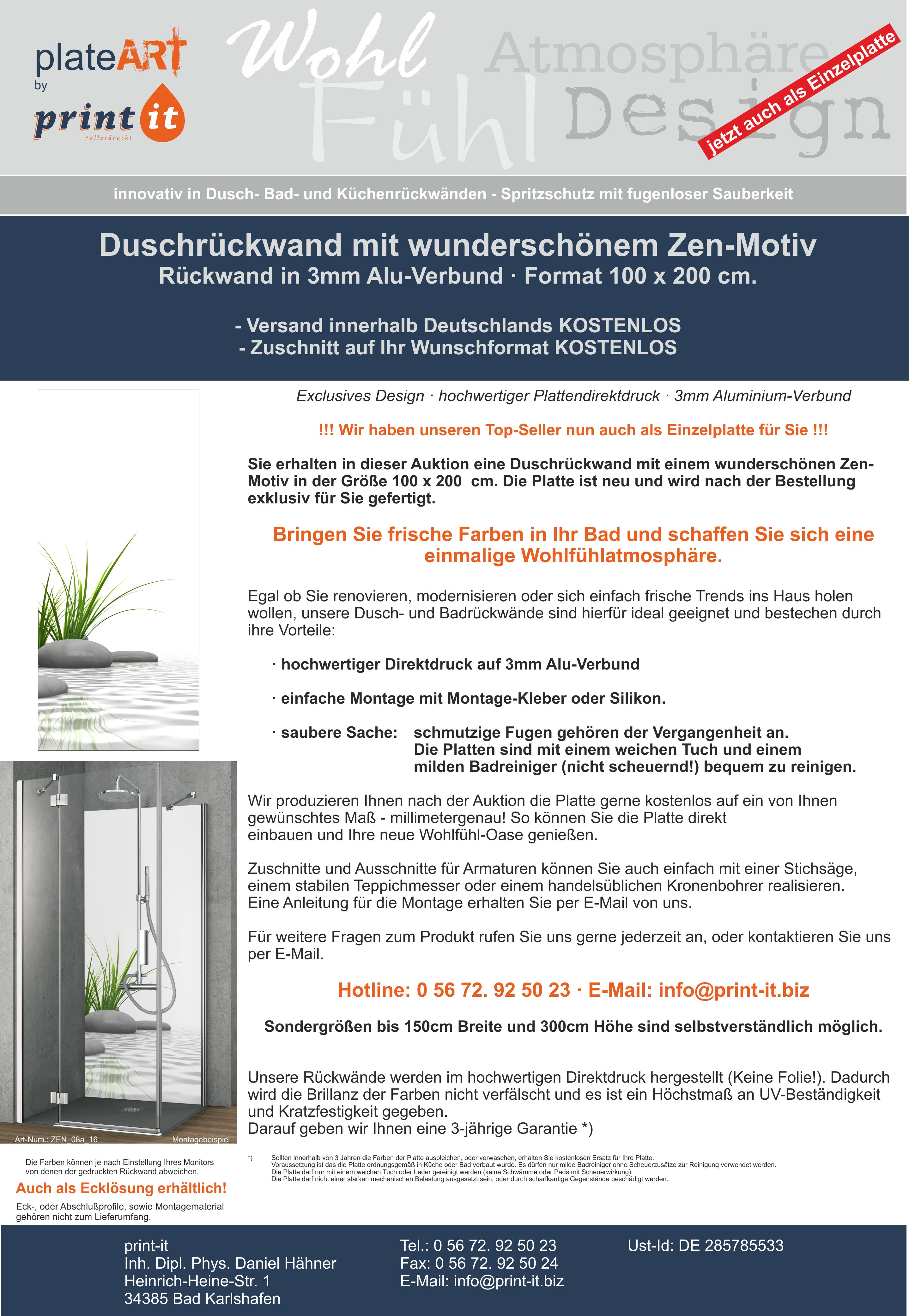 duschr ckwand r ckwand dusche alu dibond fliesenersatz. Black Bedroom Furniture Sets. Home Design Ideas