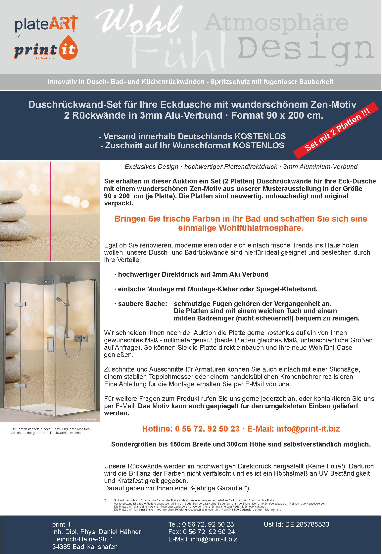 rechtliche informationen des verkufers - Aluminium Ruckwand Dusche 2